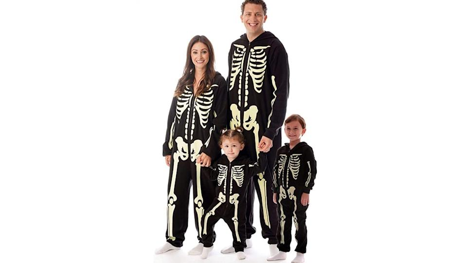 A spooky set of skeletons is a classic costume idea that's always a hit.