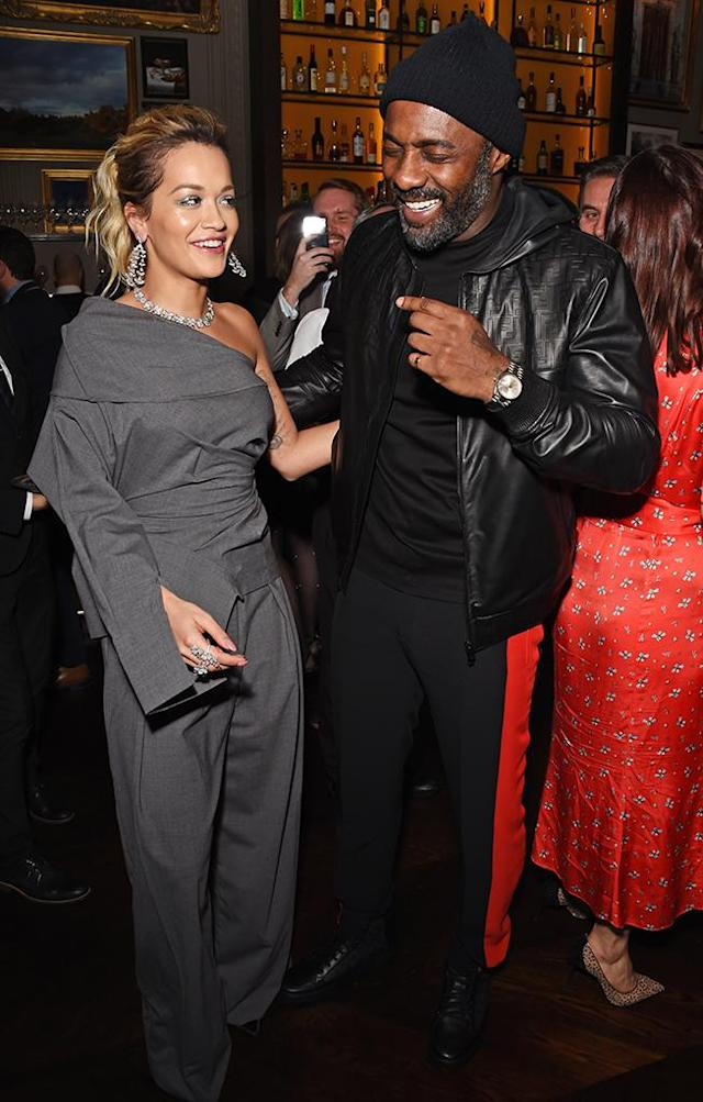 <p>On Monday, the two met up at the <em>GQ</em> London Fashion Week Men's 2018 closing dinner, which Ora co-hosted. (Photo: David M. Benett/Dave Benett/Getty Images) </p>