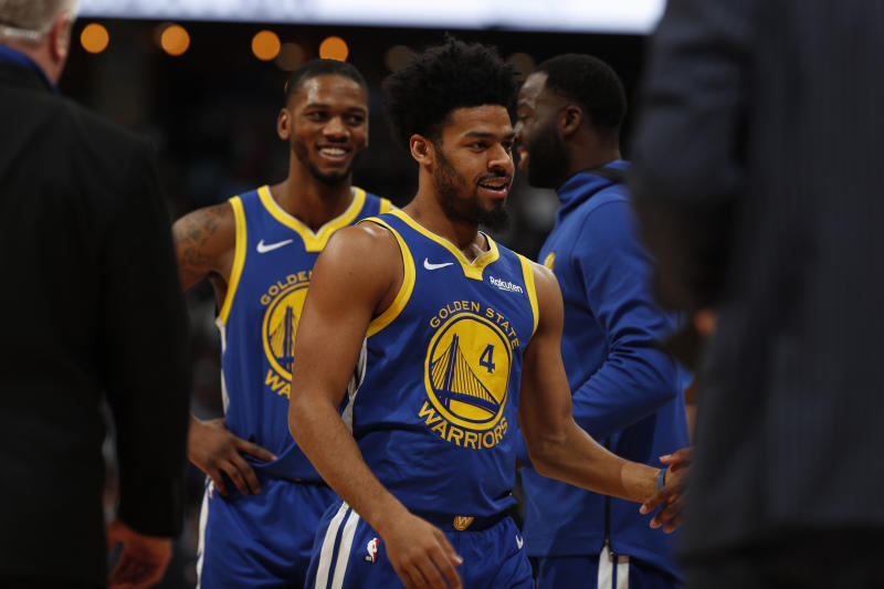 best service 29c13 05a09 Warriors' Quinn Cook, Pacers honor injured Victor Oladipo