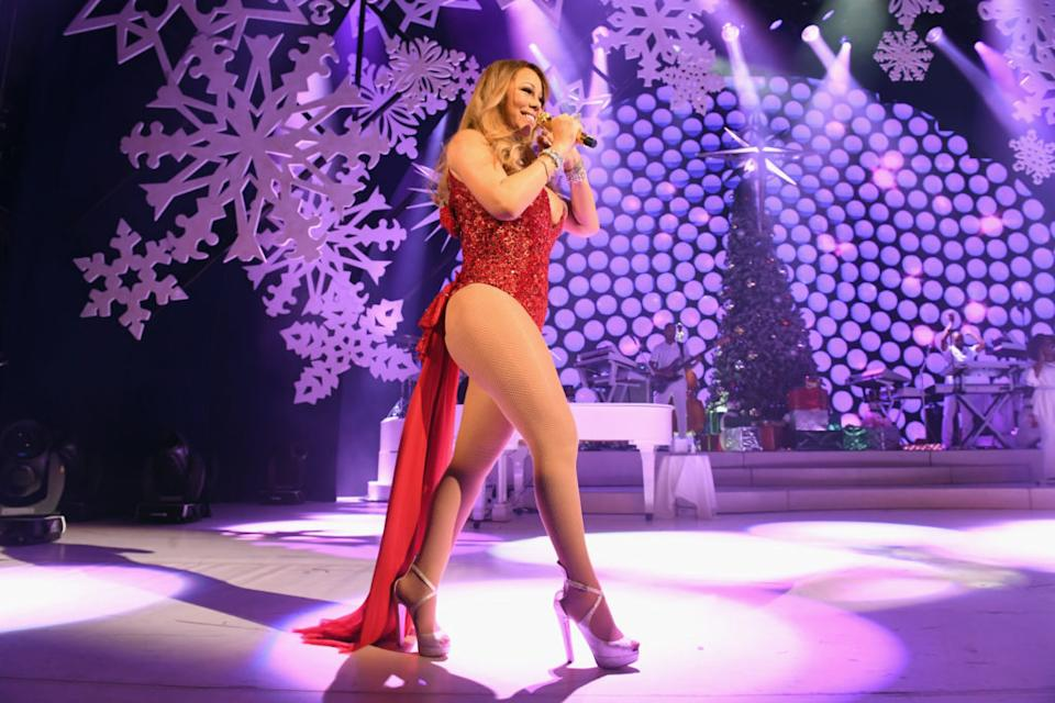 Mariah Carey performs during the opening show of Mariah Carey: All I Want For Christmas Is You at Beacon Theatre on December 5, 2016 in New York City. (Jeff Kravitz/FilmMagic for Mariah Carey)