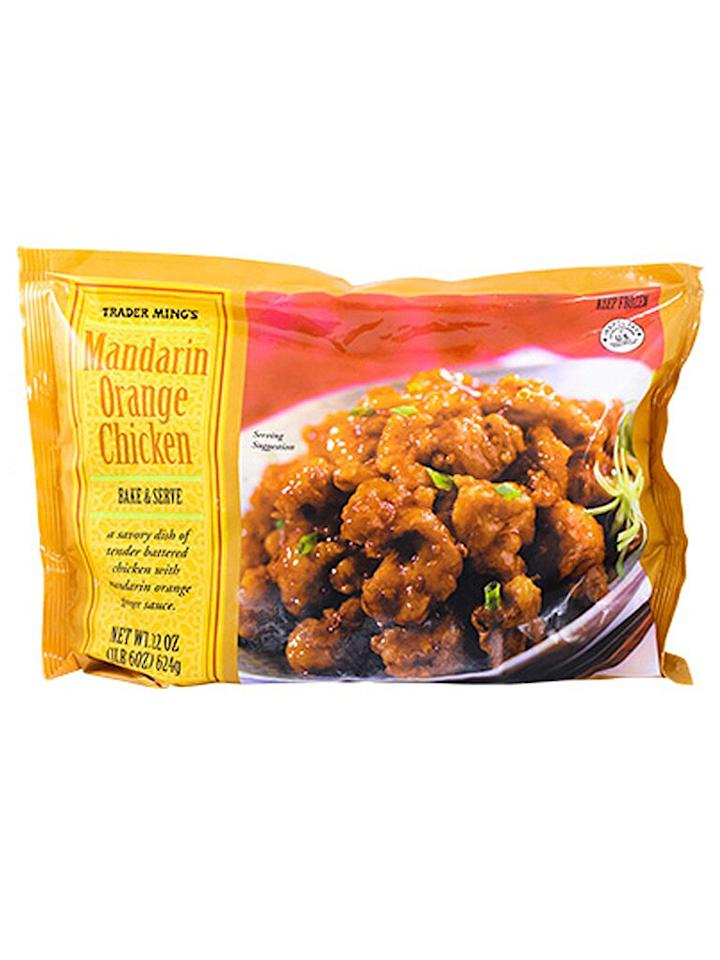 <strong>M</strong><strong>andarin Orange Chicken</strong>  Even though this tangy frozen chicken is no longer the overall favorite TJ's meal, shoppers are very much still in love with it.  <strong>Runners-Up:</strong>  Cauliflower Gnocchi  Chicken Tikka Masala  Butter Chicken  Sweet Potato Gnocchi with Butter & Sage