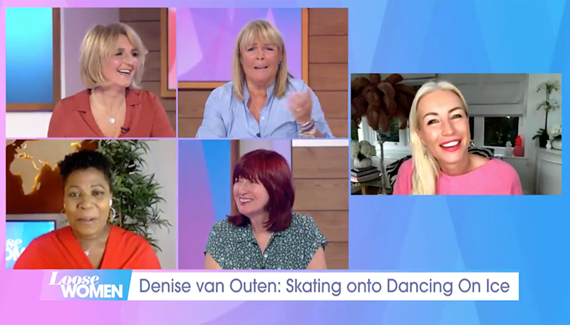 Denise Van Outen joined the Loose Women on Wednesday's show. (Photo: ITV)