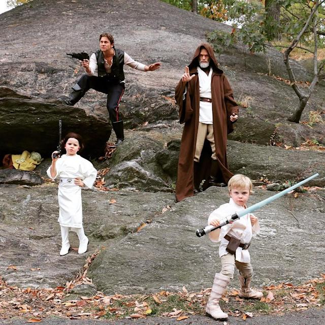 "<p>""A long time ago in a Halloween far, far away…,"" the <i>Gone Girl</i> actor captioned a snapshot of his family, including husband David Burtka and now 6-year-old twins Harper and Gideon, <a href=""https://www.instagram.com/p/9hCAiUSTnn/?taken-by=nph"" rel=""nofollow noopener"" target=""_blank"" data-ylk=""slk:dressed as the Star Wars gang"" class=""link rapid-noclick-resp"">dressed as the <i>Star Wars</i> gang</a> in 2015. (Photo: Neil Patrick Harris via Instagram) </p>"