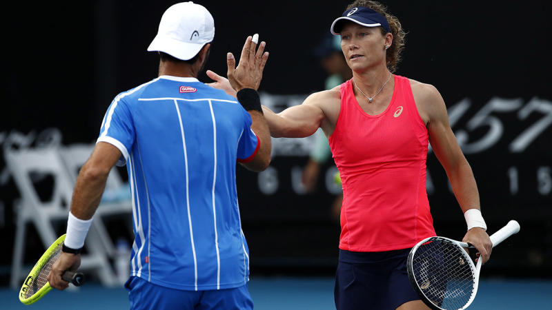 Samantha Stosur, pictured here at the 2020 Australian Open in January.