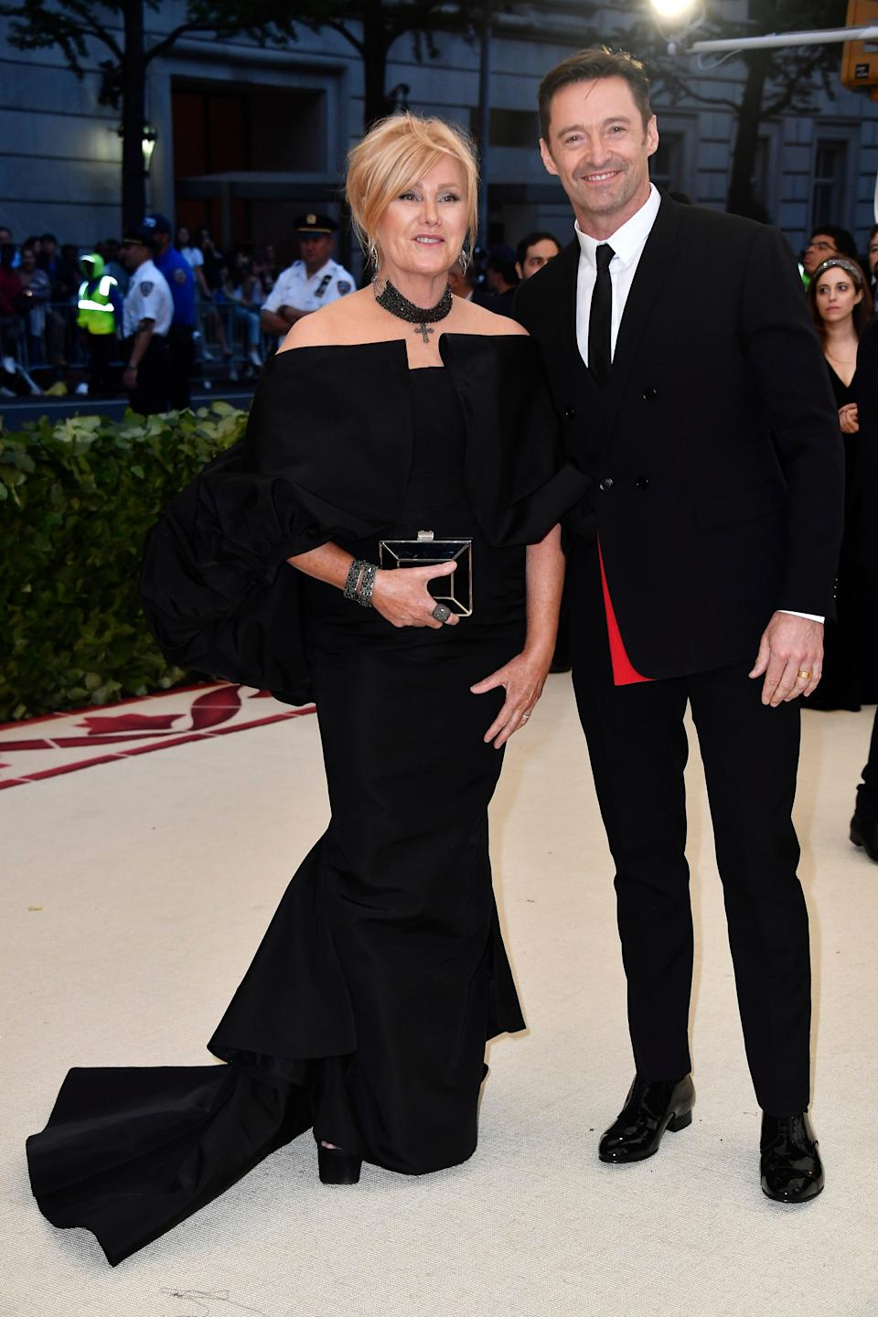 """<h1 class=""""title"""">Hugh Jackman in Dior Homme and Deborra-Lee Furness</h1><cite class=""""credit"""">Photo: Getty Images</cite>"""