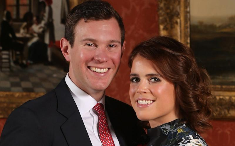 Jack Brooksbank, pictured here with his fiancée Princess Eugenie, set up his own wine wholesaler in August 2016 - PA
