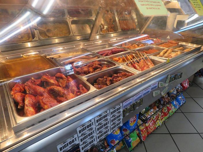 With a 24-hour take-out deli, travelers on the road between Portland, Ore., and Seattle can get a great bite to eat at any hour at Gee Cee's Truck Stop in Toledo, Wash.
