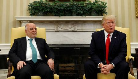 Iraqi prime minister joins Trump for meeting focusing on IS
