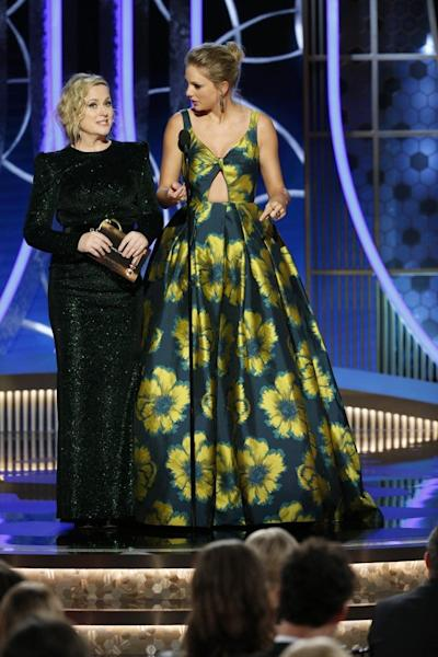 The two presented an award together following Poehler's jab at Swift during the 2013 awards show.