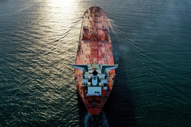 A petroleum tanker passing through the Arkansas Channel from the Gulf of Mexico at Port Aransas, Texas: the UN is warning that crews have been stuck at sea with no relief due to the coronavirus, creating a looming 'humanitarian and safety crisis'