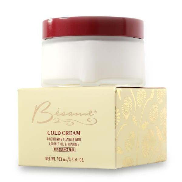 <p>Indulge in the vintage vibe with the ultra-luxe <span>Besame Cosmetics Cold Cream</span> ($36).</p>