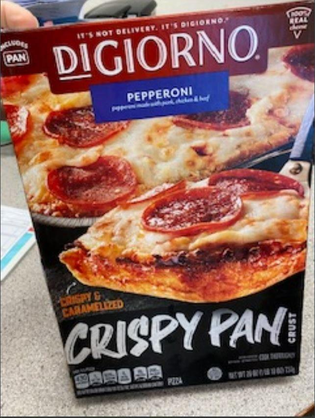 Nestlé USA is recalling nearly 28,000 pounds of its frozen DiGiorno Crispy Pan Crust pepperoni pizza.