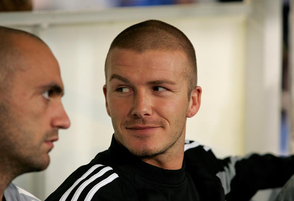 david beckham in 2004, male icons