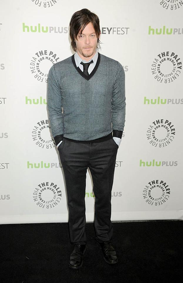 "Norman Reedus attends the 30th Annual PaleyFest featuring the cast of ""The Walking Dead"" at Saban Theatre on March 1, 2013 in Beverly Hills, California."