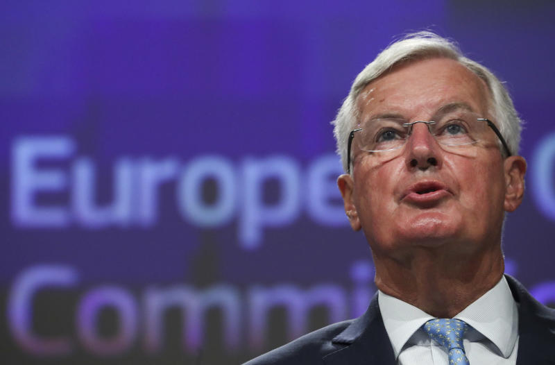 "Barnier, said that it was ""unlikely"" that the EU and UK would agree a trade deal before the end of the transition period."