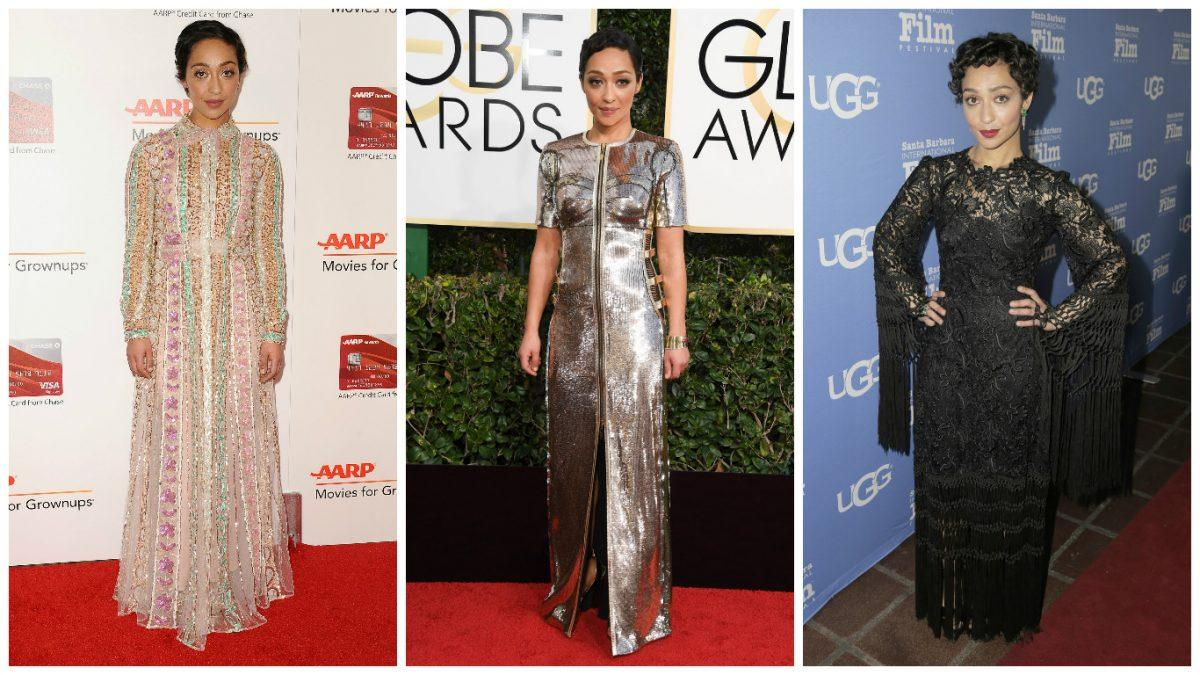 <p>She may be an awards season first timer, but thanks to her stylist Karla Welch, Loving star Ruth Negga has nailed it so far in futuristic Louis Vuitton at the Globes. She's not afraid to experiment and hopefully the Globes will be no exception. </p>