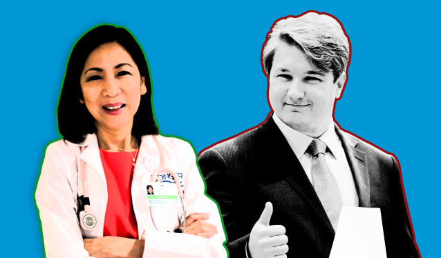 Democrats Mai-Khanh Tran and Phil Janowicz. (Photo illustration: Yahoo News; photos: Tran for Congress via AP, Leonard Ortiz/The Orange County Register via ZUMA Wire)