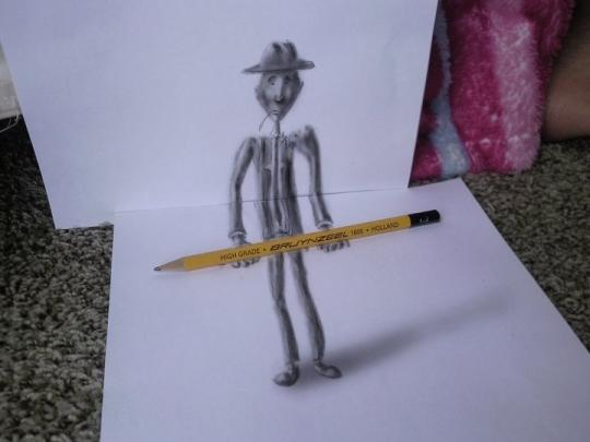 Stick figure: Ramon has been working on the clever technique for ten years (Ramon Bruin)