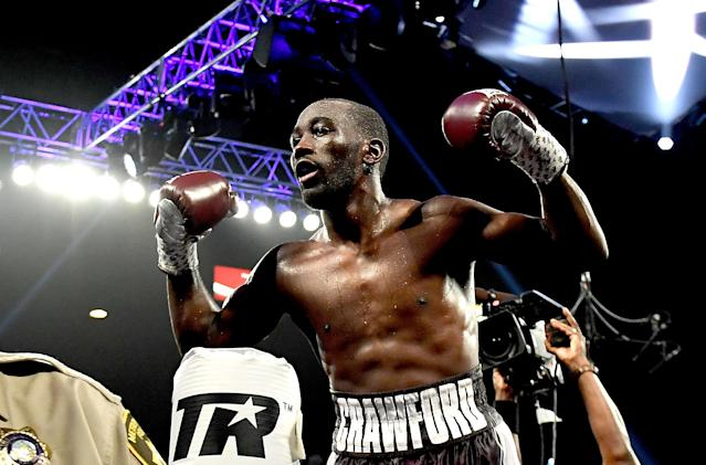 Terence Crawford is unbeaten in 34 professional fights, but hasn't faced the type of elite opposition other fighters of his caliber dealt with in their Hall of Fame careers. (Getty Images)