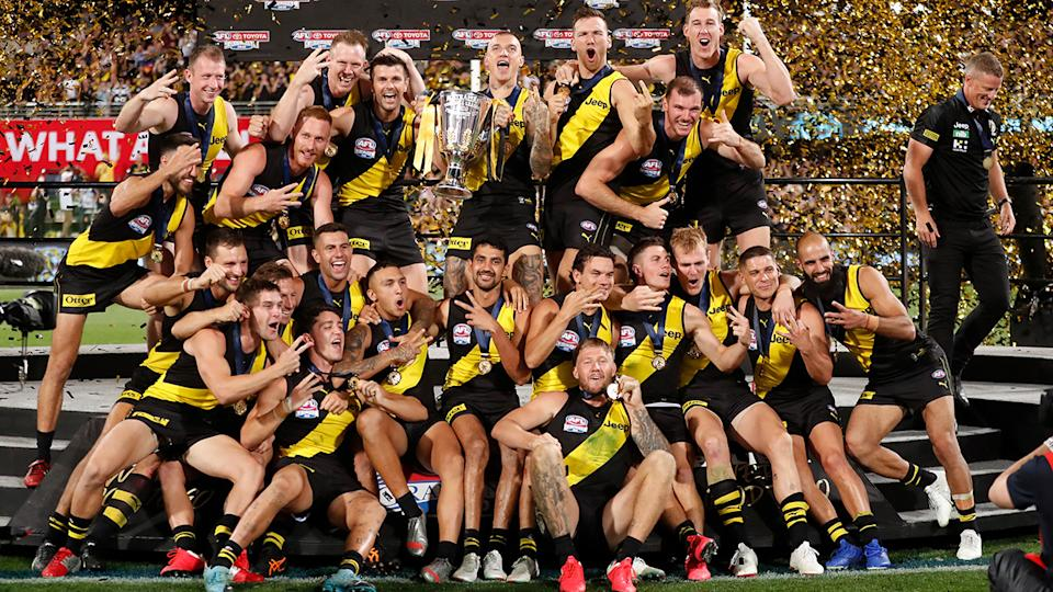 The AFL grand final will return to the afternoon after the league experimented with a night decider in 2020. (Photo by Michael Willson/AFL Photos via Getty Images)