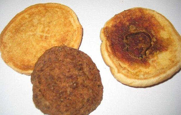 Utah resident David Whipple sent in this McDonald's hamburger patty to a TV show nearly 14 years after he purchased it on July 7, 1999.