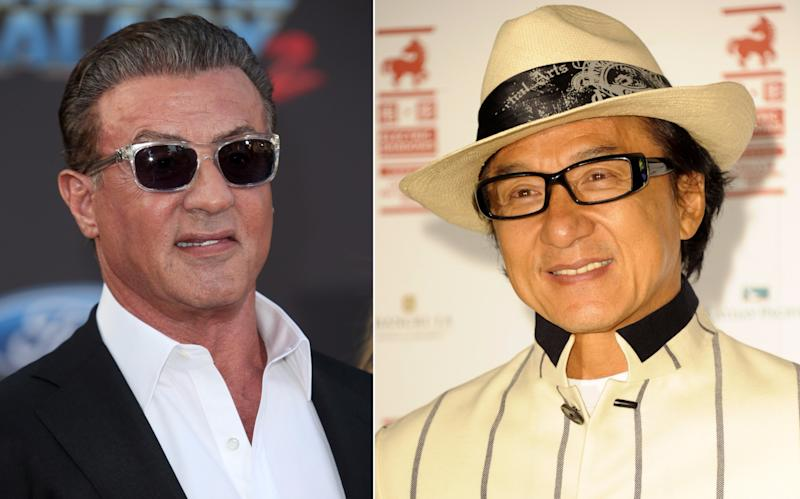 Elder statesman of action Sylvester Stallone and Jackie Chan (credit: WENN)