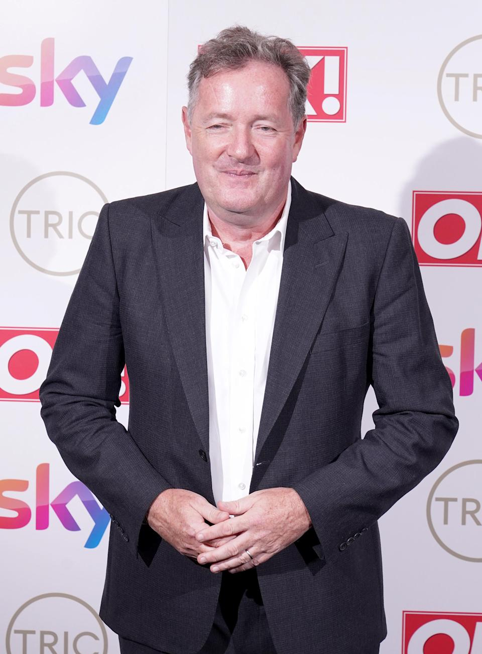 File photo dated 15/9/21 of Piers Morgan attending the TRIC Awards 2021. Mr Morgan's new TV show will be directed by his former Good Morning Britain colleague Erron Gordon, it has been announced. The TV show will air on weeknights in the UK, US and Australia, and Morgan will also present a series of true crime documentaries.