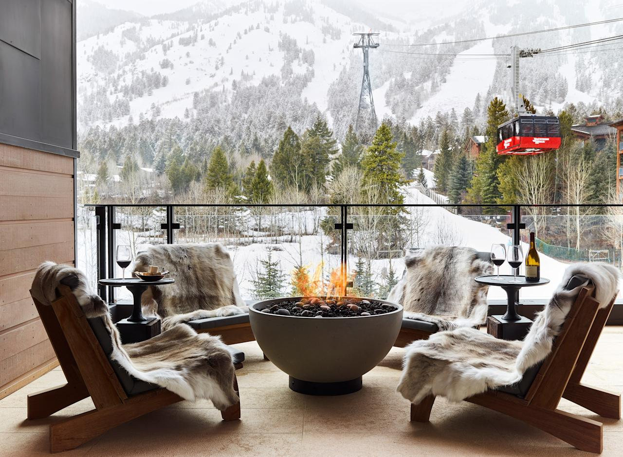 """<p>According to contributing editor Alex Postman, """"Jackson Hole is pretty much the <a href=""""https://www.cntraveler.com/story/why-jackson-hole-is-the-perfect-ski-town?mbid=synd_yahoo_rss"""" target=""""_blank"""">Western capital of whoop-ass</a>."""" The Teton-ringed valley is known for its 3,000 acres of accessible backcountry terrain and some of the most challenging skiing in all of <a href=""""https://www.cntraveler.com/galleries/2014-12-05/america-s-best-ski-resorts-readers-choice-awards-2014?mbid=synd_yahoo_rss"""" target=""""_blank"""">North America</a>—not to mention scenery that is equally thrilling. Even if vertical slopes aren't your thing, both Teton Village and the town of Jackson offer tons of après-ski diversions, with upscale vintage shops and farm-to-table restaurants popping up alongside classic steakhouses and blanket-and-moccasin stores. Stop by Persephone Bakery for Insta-worthy quinoa bowls or the <a href=""""https://www.cntraveler.com/hotels/jackson/anvil-hotel?mbid=synd_yahoo_rss"""" target=""""_blank"""">Anvil Hotel</a>'s mercantile for a pair of deerskin gloves.</p> <p><strong>Stay here:</strong> The buzz this season is all about <a href=""""https://calderahouse.com/"""" target=""""_blank"""">Caldera House</a> (pictured), an exclusive, ultra-luxury property spearheaded by billionaire Wes Edens (co-owner of the Milwaukee Bucks) that opened in late 2018. The eight suites are decked out in Ralph Lauren fabrics and private balconies with fire pits, and the private ski valet will score you primo slope times. <em>—Caitlin Morton</em></p>"""