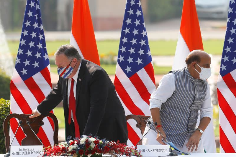 U.S. Secretary of State of Mike Pompeo and U.S. Defense Secretary Mark Esper visit India