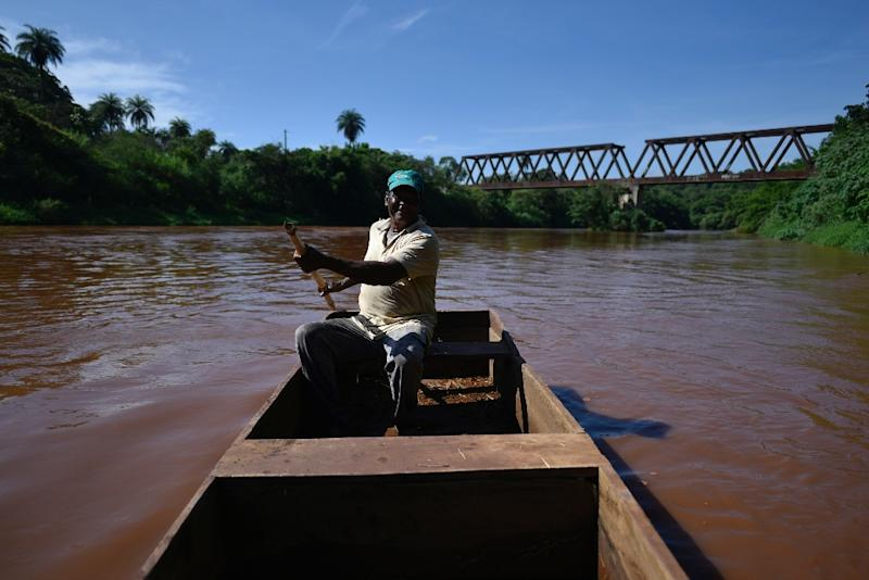 Two months after an upstream tailings dam owned by mining giant Vale burst, local fisherman Jose Geraldo dos Santos says the river is too polluted for fishing or even for his animals to drink (AFP Photo/DOUGLAS MAGNO)