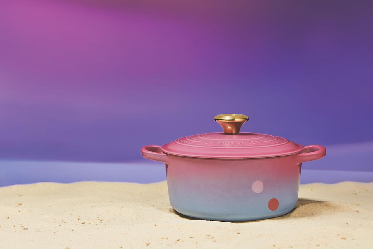 <p>While most of the items are grey or black, this hand-painted enamel cast iron oven (it was painted in Le Creuset's French l'Atelier!) features shades of blue and pink meant to look like Tatooine's sunset.</p><p><strong><em>Price: $900</em></strong></p>