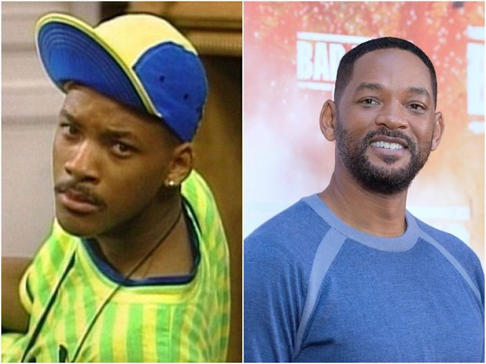 "Will Smith in ""The Fresh Prince of Bel Air"" and now."