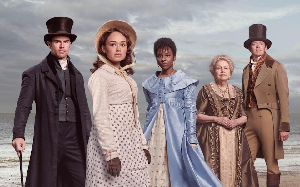 Theo James, Rose Williams, Crystal Clarke, Anne Reid and Kris Marshall star in Andrew Davies's adaptation of Jane Austen's unfinished novel - ITV Picture Desk