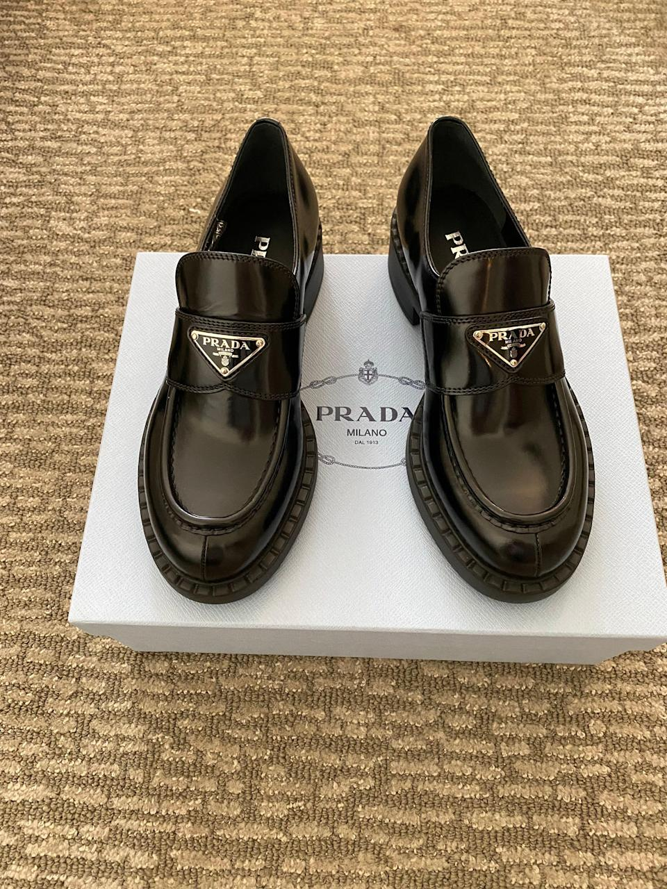 I fell in love with these Prada shoes as soon as I saw them! Best part about them… they're not heels!