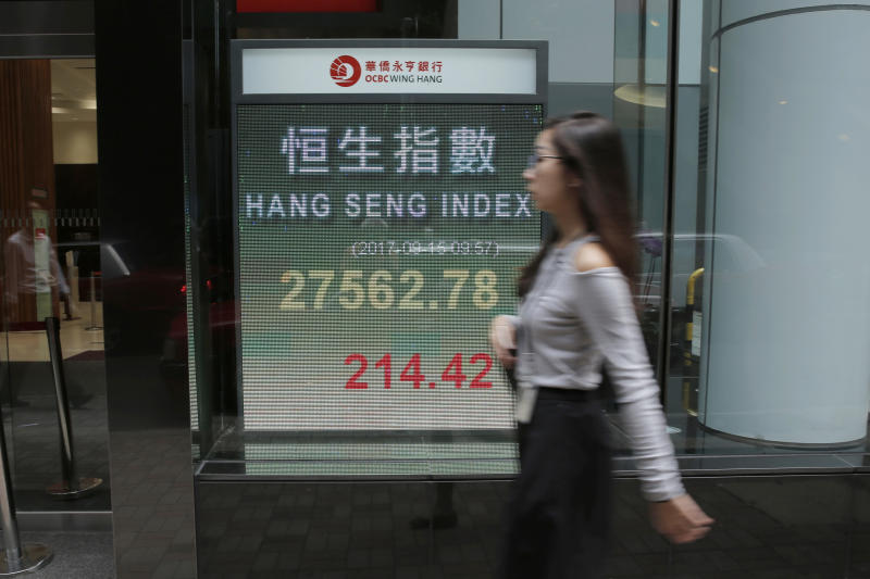 World stocks fall on NKorea launch, central banks outlook