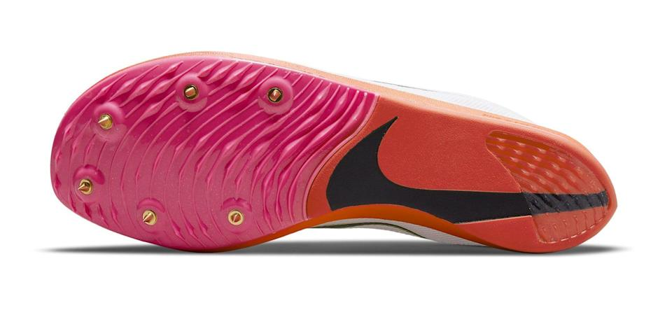 """The outsole of the Nike ZoomX Dragonfly """"Rawdacious."""" - Credit: Courtesy of Nike"""