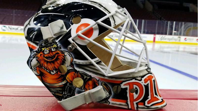 Flyers  Calvin Pickard gets Gritty with it for new helmet design 605f3ab9f