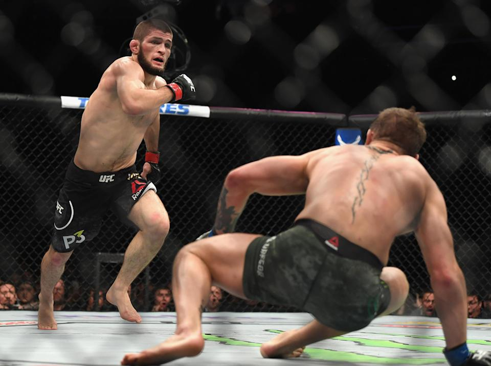 Khabib dropped McGregor early into the fightGetty