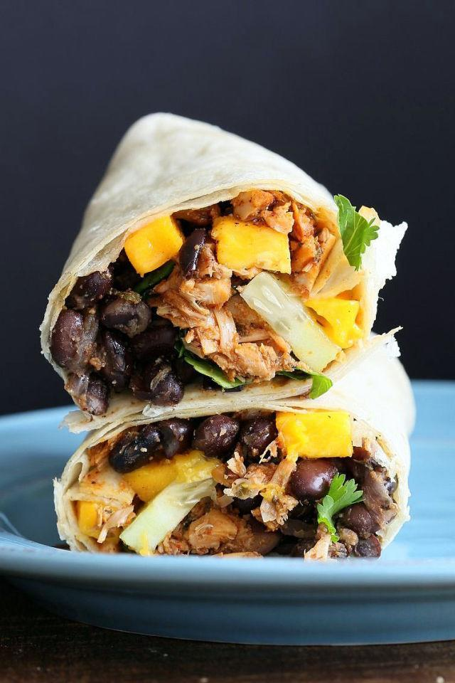 """<p>Ready to be impressed? Take a bite into one of these <a href=""""http://www.drozthegoodlife.com/healthy-food-nutrition/healthy-recipe-ideas/recipes/a2616/gluten-free-greek-salad-wrap/"""" rel=""""nofollow noopener"""" target=""""_blank"""" data-ylk=""""slk:protein-packed wraps"""" class=""""link rapid-noclick-resp"""">protein-packed wraps</a>. It's so good you won't be able to put it down.</p><p>Grab the recipe from <a href=""""http://www.veganricha.com/2016/05/jamaican-jerk-jackfruit-caribbean-black-bean-mango-wraps.html"""" rel=""""nofollow noopener"""" target=""""_blank"""" data-ylk=""""slk:Vegan Richa"""" class=""""link rapid-noclick-resp"""">Vegan Richa</a>.</p>"""