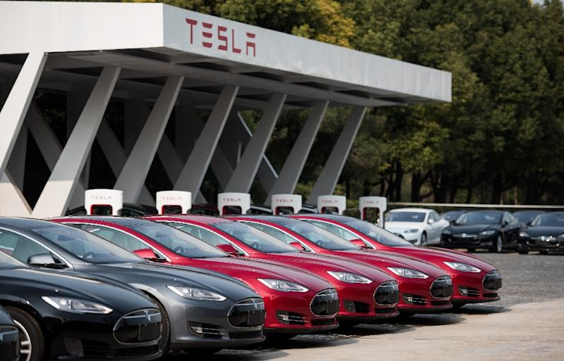 Tesla has never announced sales targets for China, but the launch of its cars generated widespread media coverage and an enthusiastic initial response (AFP Photo/Johannes Eisele)