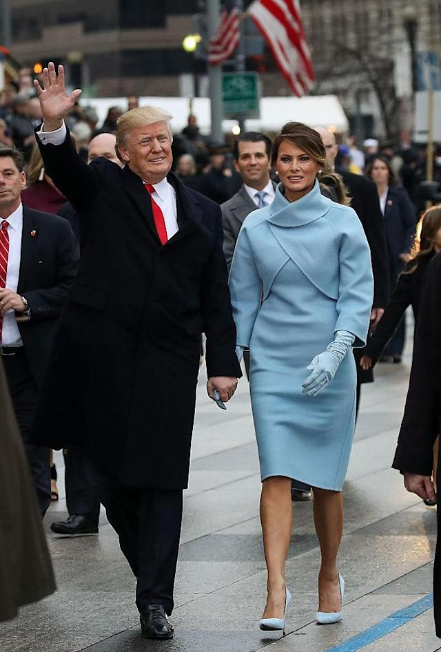 President Trump and first lady Melania Trump on Inauguration Day in January. (Photo: Getty Images)