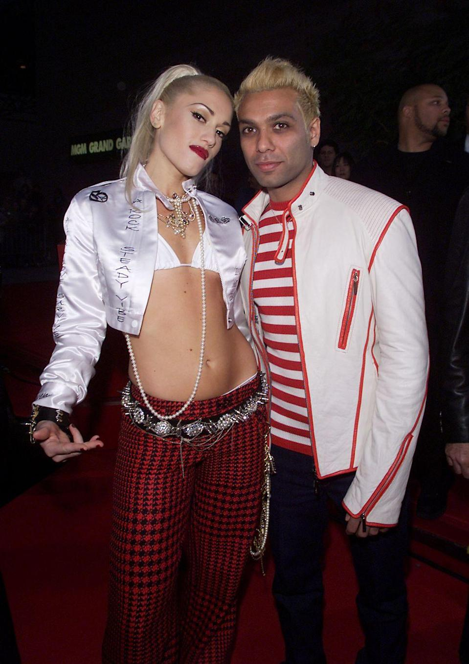 """<p>One of No Doubt's most famous hits was written by Gwen Stefani after she broke up with the group's bassist, Tony Kanal. """"It used to be more upbeat, more of a Seventies rock-type thing,"""" she told<a href=""""https://www.independent.co.uk/arts-entertainment/music/features/story-of-the-song-dont-speak-no-doubt-1996-2044589.html"""" rel=""""nofollow noopener"""" target=""""_blank"""" data-ylk=""""slk:The Independent"""" class=""""link rapid-noclick-resp""""> The Independent</a>. """"[When] Tony and I broke up ... it turned into a sad song."""" </p>"""