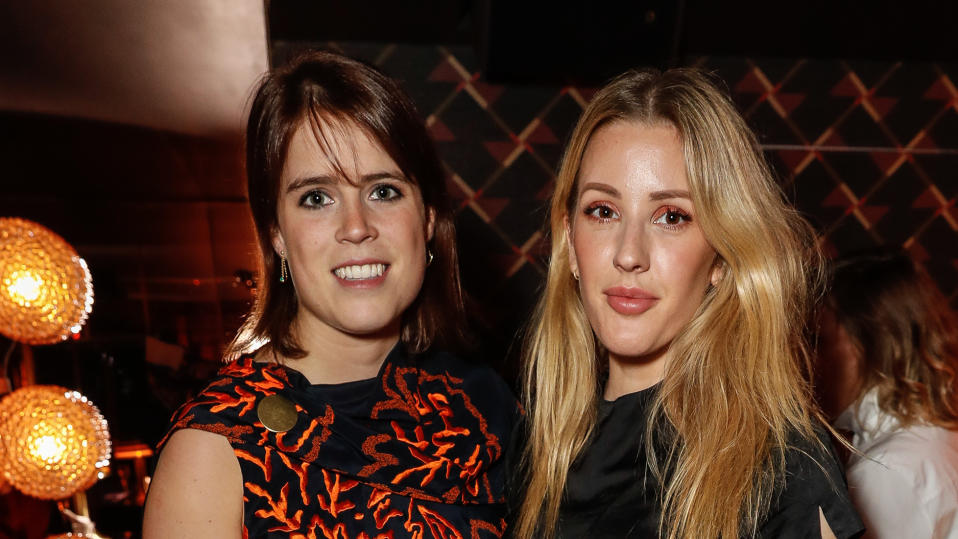 Princess Eugenie and Ellie Goulding attend a club launch party on October 9, 2017. (Photo by David M. Benett/Dave Benett/Getty Images)