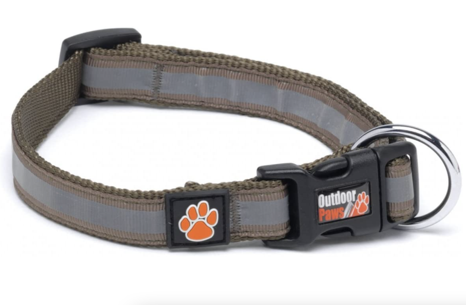 Petface Reflective Collar in Olive