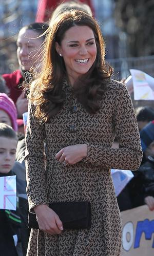 Kate Middleton Wearing an Orla Kiely Coat in Oxford Today!