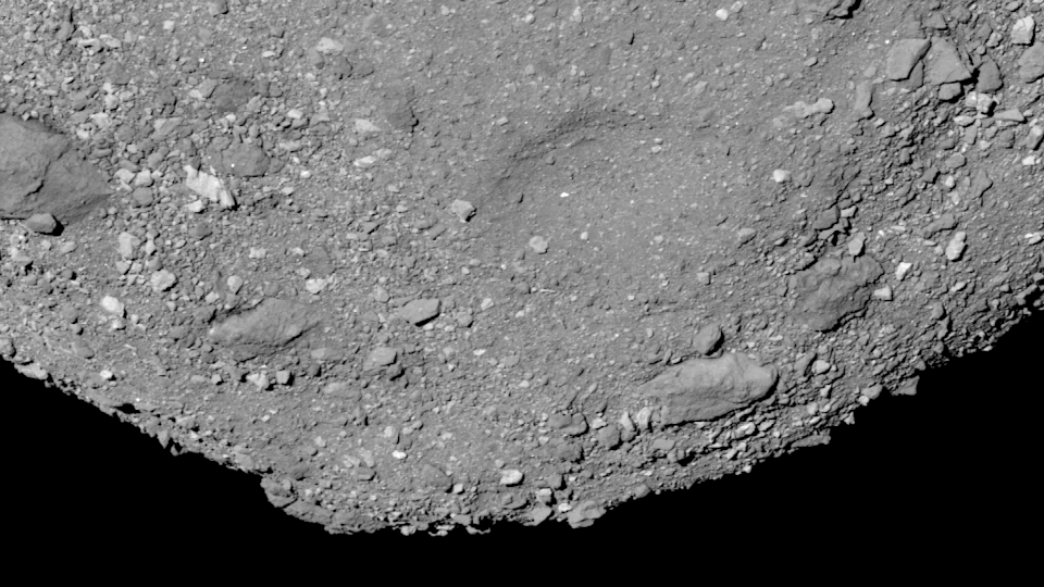 """<p>Bennu is <a href=""""https://www.popularmechanics.com/space/solar-system/a28087754/nasa-close-asteroid-photo/"""" rel=""""nofollow noopener"""" target=""""_blank"""" data-ylk=""""slk:the prime target"""" class=""""link rapid-noclick-resp"""">the prime target</a> of NASA's OSIRIS-REx sampling mission. The OSIRIS-REx spacecraft has been studying the asteroid since it arrived in 2018. </p><p>Later this summer, the spacecraft will swoop low over the asteroid and scoop up a small chunk for transport back to Earth. It performed a dress rehearsal of the procedure earlier this year. Scientists will have to wait till 2023 before they can get their hands on that sweet, sweet asteroid sample.</p>"""
