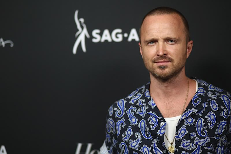 BEVERLY HILLS, CALIFORNIA - SEPTEMBER 20: Aaron Paul attends The Hollywood Reporter And SAG-AFTRA Celebrate Emmy Award Contenders At Annual Nominees Night on September 20, 2019 in Beverly Hills, California. (Photo by Tommaso Boddi/WireImage)