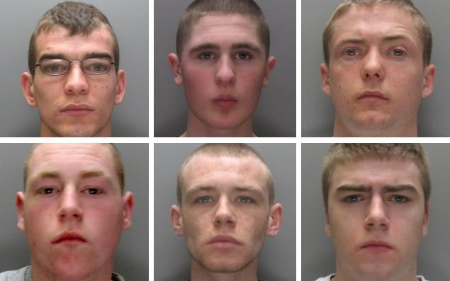 Sean Mercer, (top centre) was a leading figure in the so-called Croxteth Crew, a notorious east Liverpool street gang - PA