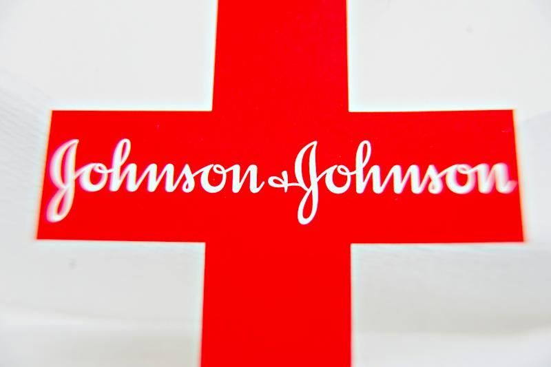The logo of Johnson & Johnson is arranged for a photograph. Photo: Daniel Acker/Bloomberg