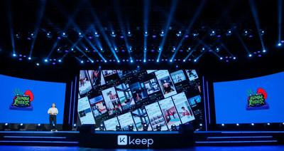 Zhao Xi, General Manager of Keep Marketing Center Delivered Speech on the Conference